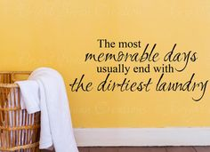 The Most Memorable Days - wall decal - wall quote - home vinyl wall decal - wall sticker $9