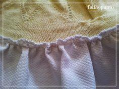 feitoepunto: Cómo coser una falda de tela a un cuerpo de punto Lace Shorts, Off Shoulder Blouse, Sewing Projects, Knitting, Crochet, Women, Kid, Baby, Ideas