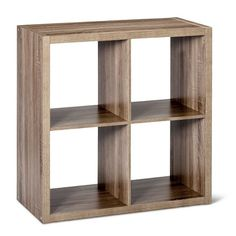 Threshold's white 9 cube organizer has 9 convenient cube openings for storage and is compatible with storage bins and Threshold cube Hanging Closet Storage, Entryway Storage, Crate Storage, Storage Shelves, Shelving, Tv Shelf, 4 Cube Organizer, Wooden Cubes, Cube Shelves