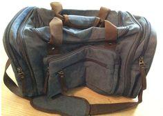 Aidonger - Unisex Canvas Großräumige Handtasche Schultertasche Reisetasche (Dunkelblau)