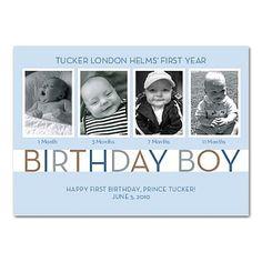Cute idea for first birthday invite!