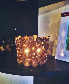 Kerzenhalter aus Altpapier basteln - Upcycling