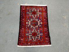 Persian Rug - 1980s Hand-Knotted Karaja Persian Rug (3418) by carpetshopprincess on Etsy