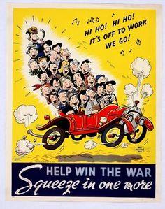 Culturizando: En Imágenes: 10 curiosos pósters de la II Guerra Mundial para compartir el auto