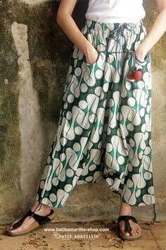 BLTR-Men Linen African Print Cropped Pockets Baggy Harem Capri Pants