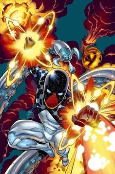 Cosmic spider-man One of the most powerful characters in the Marvel Universe. Marvel Comics, Marvel E Dc, Marvel Heroes, Anime Comics, All Spiderman, Spiderman Suits, Spiderman Costume, Batman, Marvel Universe