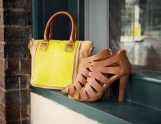 The stars of spring: caged heels & bright bags! #DSW #shoelover