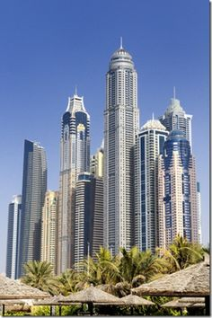 14th tallest building in the world - the Princess Tower is situated among 19 of the world's 100 tallest towers.