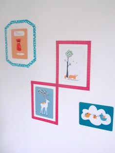 washi tape decor in nursery