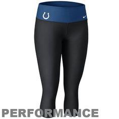 61cad243 Nike Indianapolis Colts Women's Dri-FIT Legend Performance Capri Pants -  Black-Royal Blue