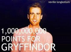 that awkward moment when Neville (wussy dork) turns into the hottest person of the Harry Potter series... I want him