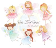 Cute Fariy Clipart, Fairy clipart PNG file-300 dpi. by HandMek on Etsy https://www.etsy.com/listing/247415299/cute-fariy-clipart-fairy-clipart-png