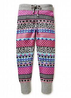 Girls Pants & Leggings | Fairisle Knit Pant | Seed Heritage