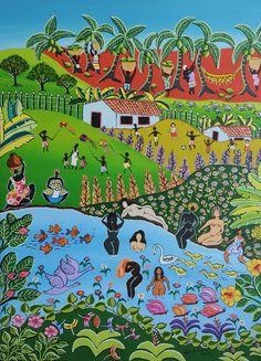 Arte Naif: Lago Encantado /Tania Azevedo / 2009