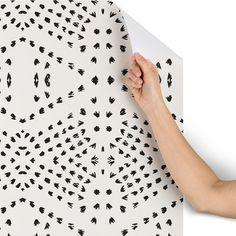2x10 Holli Zollinger Boho Tile Wallpaper Buff Beige - Deny Designs : Target