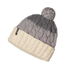 Patagonia Women\'s Pom Beanie - Glacier Stripe: Feather Grey GCFH