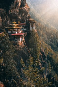 View of Paro Taktsang located in Bhutan. One of the tourist attraction points in the country. Clicked on November 2019 // u/khan-isa