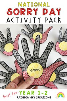 Let us help you with teaching material about National Sorry Day in Australia. Our digital and printable packs include 12 activities designed to educate Year 1 and Year 2. students in an educational, yet respectful way. These learning activities will encourage students to think about the message and values of National Sorry Day. Use some of the teaching ideas to create a display for the classroom. Learning packs can also be used during National Reconciliation Week for the early years. Learning Activities, Teaching Resources, Teaching Ideas, Primary Classroom, Primary School, National Sorry Day, Rainbow Sky, Australian Curriculum, Year 2