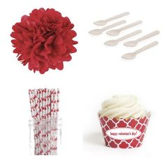 Dress My Cupcake DMC98158 Personalized Dessert Table Party Kit, Spanish Tile, Quatrefoil, Happy Valentine's Day Includes 24 standard cupcake wrappers (for presentation only). Assemble the wrapper by sliding the tab into the slit. Fits standard size cupcakes. Also includes: 4 x 14 DIY tissue paper pom poms, 8 x 5 DIY pom poms, 25 paper straws and 25 mini wooden dessert spoons. Our party kits are ... #DressMyCupcake #Kitchen