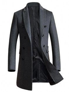 3d22364739a5c Buy Brother Wang Brand 2019 Autumn Winter New Men Slim Long Woolen Coat  Business Casual Fashion Mens Overcoat Jacket 1721