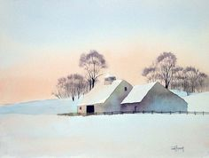 Items similar to Minus Eleven Degrees-Print from an original watercolor painting on Etsy Easy Watercolor, Watercolor Landscape, Watercolour Painting, Landscape Art, Watercolor Flowers, Landscape Paintings, Winter Illustration, Winter Painting, Monochrom