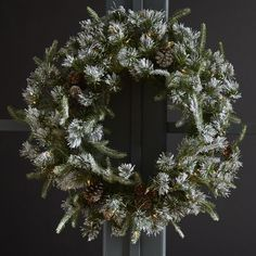 National Tree Co. Liberty Pine Wreath with Snow Pinecones with 50 Clear Lights & Reviews | Wayfair
