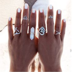Ohm Crystal Ring Stack