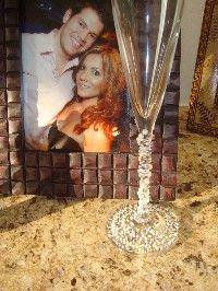 DIY Wedding - Swarovski Crystal Champagne Flutes - NIDHAL's Purple Wedding by Color Blog