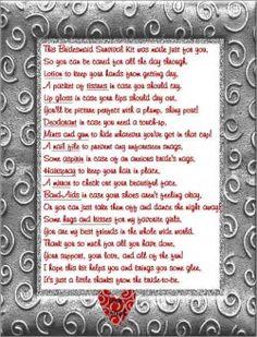 bridesmaid survival kit poem - Google Search