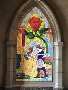 The mosaic of Belle and Adam in Be Our Guest at Beast's castle - Magic Kingdom in Walt Disney World Disney World Magic Kingdom, Disney Magic, Walt Disney World, Dining At Disney World, Disney Dining Plan, Beast's Castle, Grey Stuff, Magic Bands, Disney Fanatic