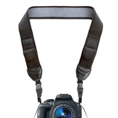 From Usa Gear Digital Camera Neck Strap With Neoprene Design Accessory Pockets And Quick Release Buckles - Compatible With Canon Fujifilm Nikon Sony And More Dslr Mirrorless Instant Cameras - Black