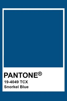 Pantone Blue Color Snorkel Trends Shire Colorful Fashion Strong Colors