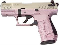 I want this b/c it's Pink and it just looks awesome!  Pink guns can still put holes in intruders!  Walther P22 Pistol, WAP22 $423.99