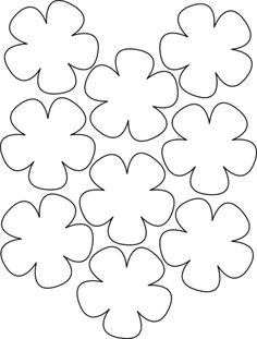 moldes de rosas para imprimir