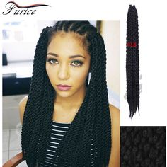 New Stylish 3D Split Cubic Twist Crochet Braids 22inch  Havana Mambo Twist Crochet Braid Hair Senegal 3D Cubic crochet braids