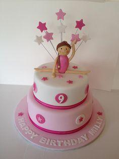Gymnastics Cake.  By Cuppy's Cakes