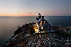 Lighthouse home on an island off Michigan's Upper Peninsula.