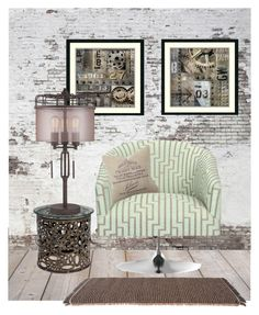 """""""That One Chair... Industrial THS for the Week of 06/26/2017"""" by marvy1 ❤ liked on Polyvore featuring interior, interiors, interior design, home, home decor, interior decorating, Williams-Sonoma, Amanti Art, Universal Lighting and Decor and Kettal"""