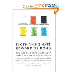 six thinking hats - edward de bono, amazon $8.32