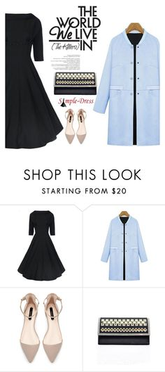 """Simpledress 6"" by mell-2405 ❤ liked on Polyvore featuring Zara, vintage and simpledress"