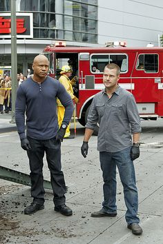"""LL Cool J and Chris O'Donnell on NCIS: LA from """"The Gold Standard""""."""