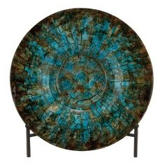 World Menagerie Round Glass Charger