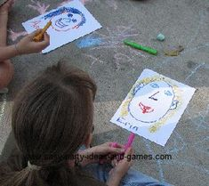 Art Party Games: Blind Van Gogh, Left Foot Art and Pass the Picture (really like this idea)
