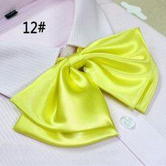 New Arrival School Style Girls Bow Pure Lady Dress Tie Collar Women Multi Style Stripe Pattern Silk Bow Ties For Ladies