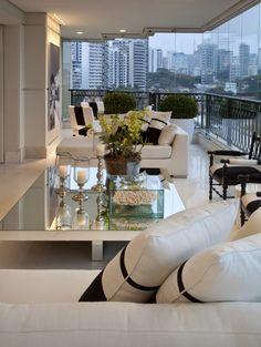 Apartamento moderno com decoração Preto