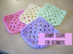 CROCHET: How to crochet a granny square for beginners | Bella Coco>> Excellent tutorial for beginners.