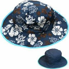 1b3b586d Picture of Brown Sea Turtle Bucket Hat Reversible (Age 0-2) Blue Brown
