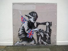 Banksy, Slave Labor, the pride of Haringey, that was chiseled off the wall of the Everything-Costs-a-Pound shop and showed up in a recent Miami art auction (subsequently withdrawn.)