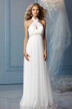 Empire Waist Halter Wedding Dress