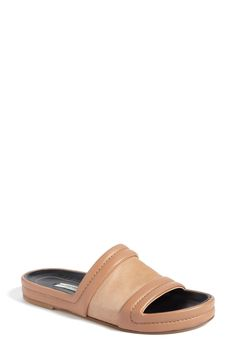 Balenciaga Leather Slide Sandal (Women) available at #Nordstrom